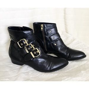 DV for TARGET Black Faux Leather Decorated Boots